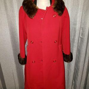 Vintage 1960's Steven's Forstmann fabric coat